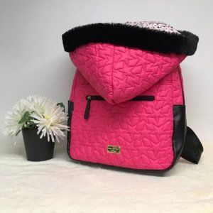 Luv Betsey Johnson Star Quilted Backpack Hoodie